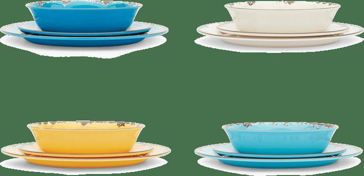 Dinnerware in 4 colors